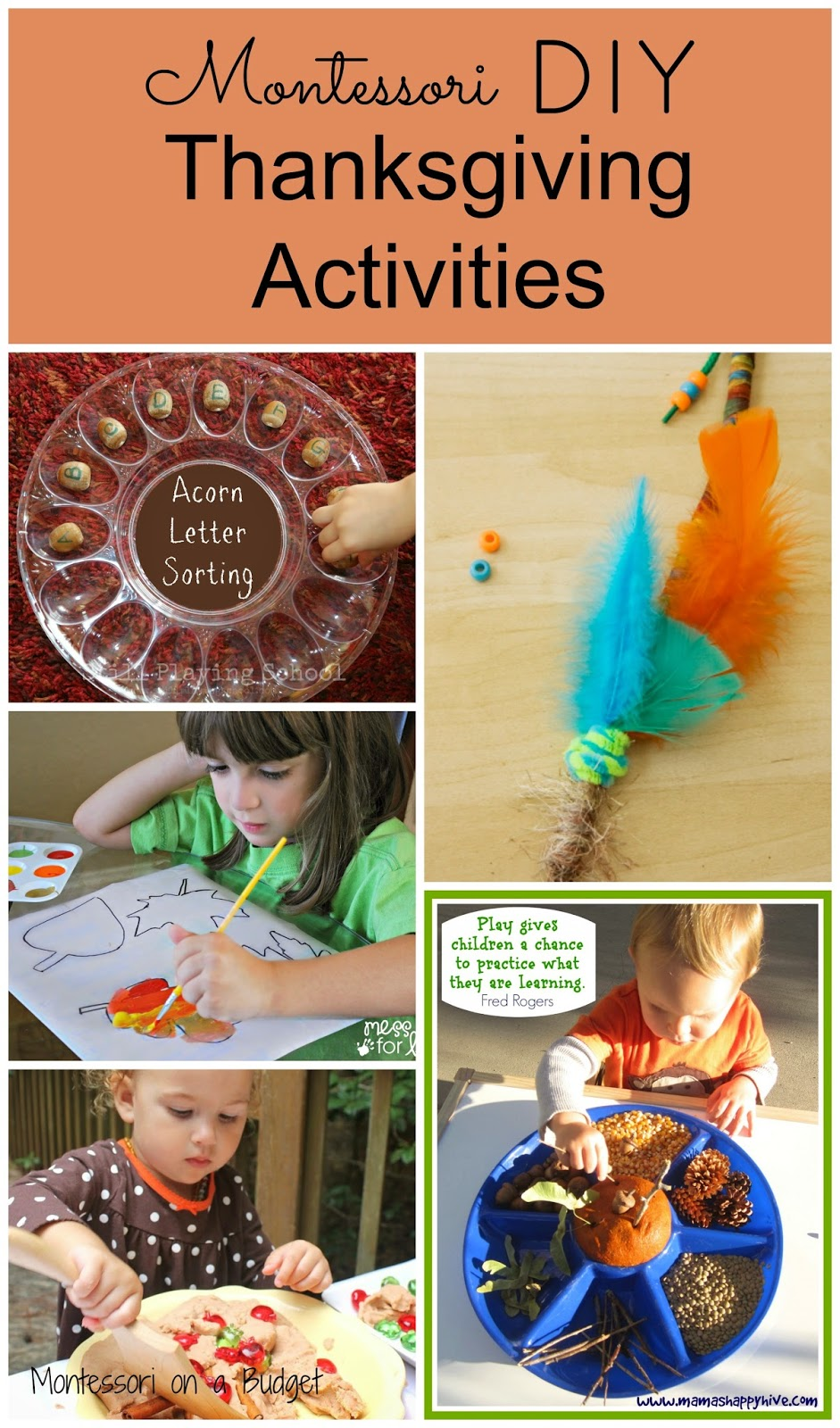 Montessori diy thanksgiving activities