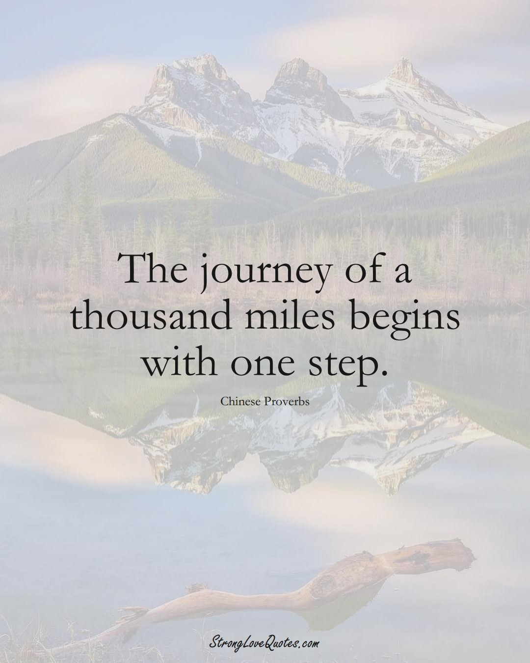 The journey of a thousand miles begins with one step. (Chinese Sayings);  #AsianSayings