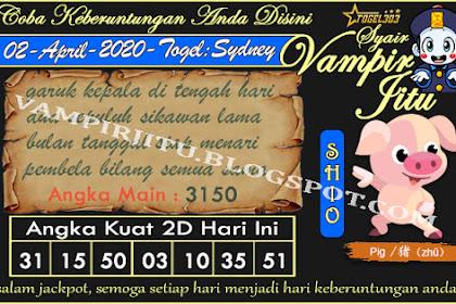 Syair Vampir Jitu Togel Sydney Kamis 02 April 2020
