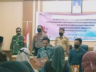 Kapolsek Ujung Tanah Hadiri Pelantikan PPS Tingkat Kecamatan