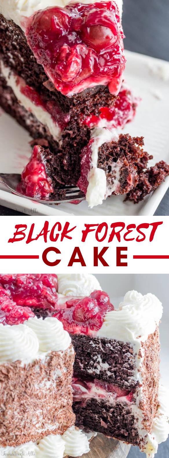 BLACK FOREST CAKE #desserts #cakerecipe