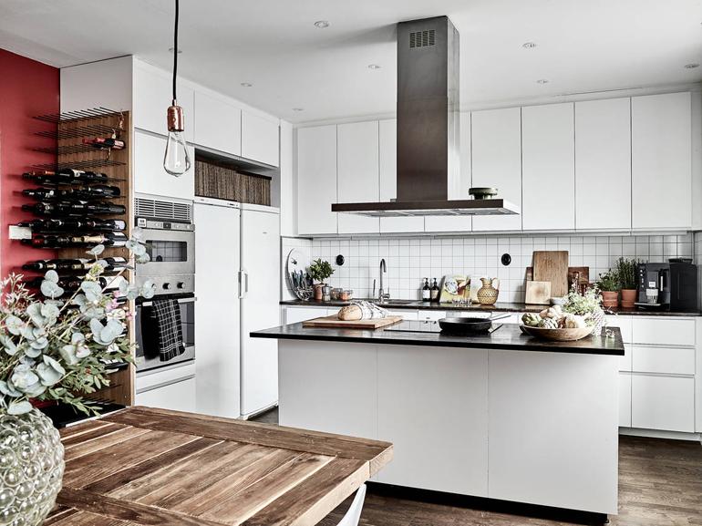 cocina apartamento nórdico