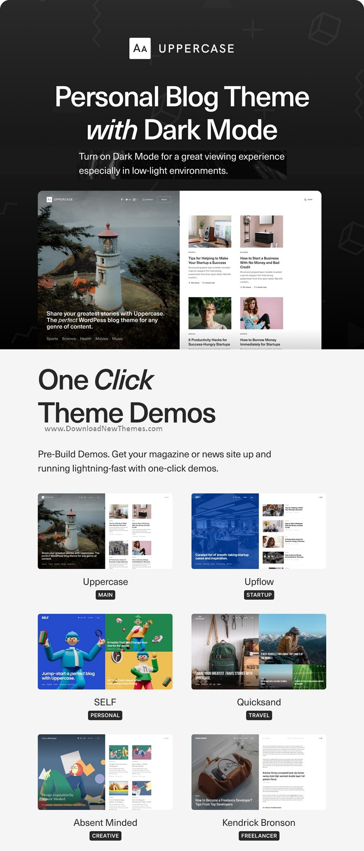 Premium Personal WordPress Blog Theme