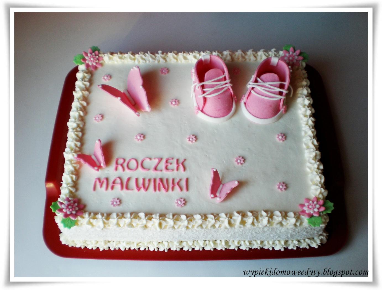 Moje Domowe Wypieki Tort Na Roczek Dla Dziewczynki