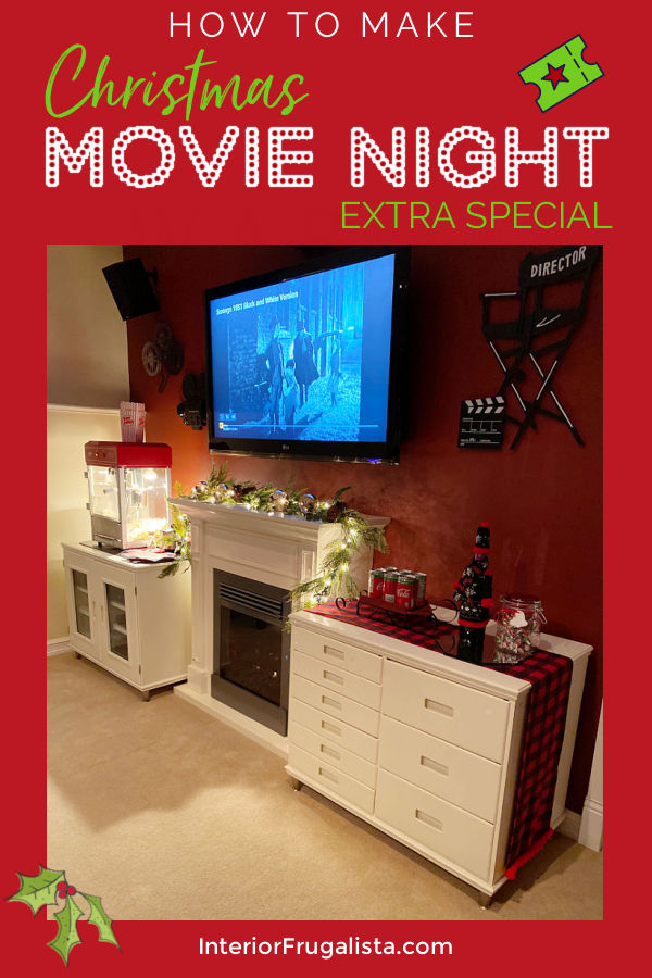Holiday Movie Night - Everything you need for a Scrooge Movie Marathon and how to make holiday movie night at home extra special by Interior Frugalista. #christmasvibes #familymovienightideas #festivechristmasideas