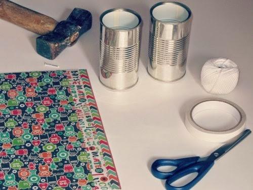 Materiales para hacer un teléfono con latas