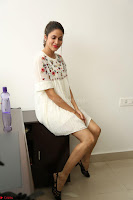 Lavanya Tripathi in Summer Style Spicy Short White Dress at her Interview  Exclusive 158.JPG