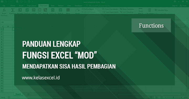 Contoh dan Cara menggunakan fungsi MOD Excel
