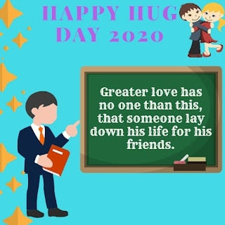 Hug day image for friend
