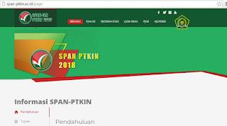 http://span-ptkin.ac.id/ Alamat Pendaftaran SPAN PTKIN Terbaru