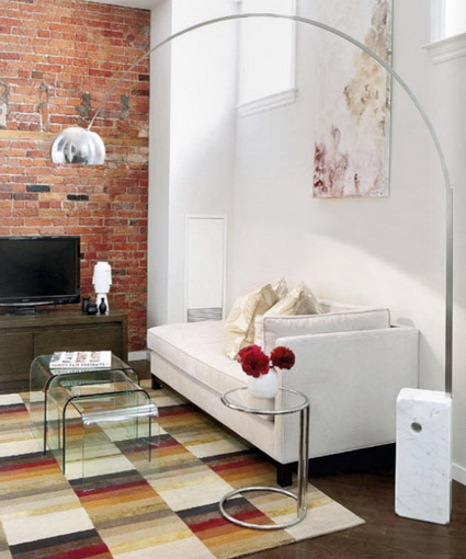 Living rooms with exposed brick 2