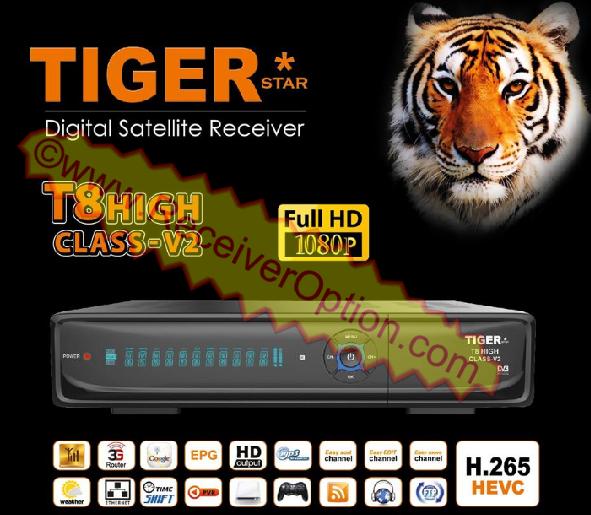 TIGER T8 HIGH CLASS-V2 HD RECEIVER NEW SOFTWARE V3.53
