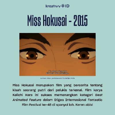 Film Anime Seru yang Sukses Dapat Penghargaan Internasional Miss Hokusai - 2015