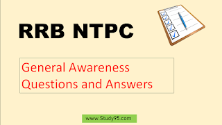 RRB GK Questions , RRB NTPC GK