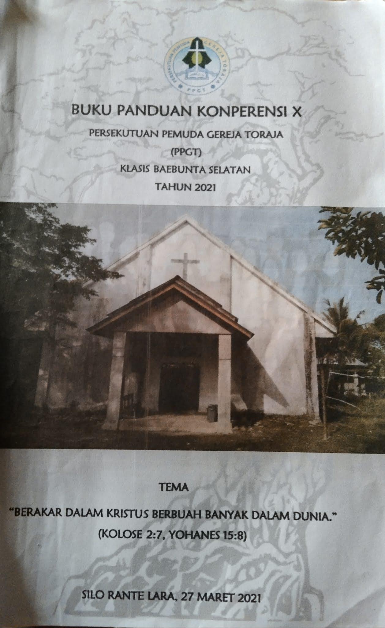 Buku Panduan Konperensi X PPGT Klasis Baebunta Selatan