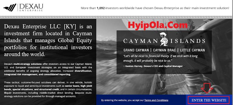 [SCAM] Review Dexau Enterprise - Site đầu tư đẳng cấp lãi 2.1% hằng ngày - Cho rút vốn