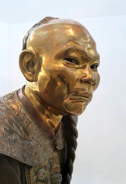 Charles Cordier (1827-1905) , Un chinois (détail du visage)