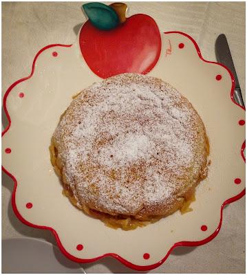 torta magica mele caramellate e cannella