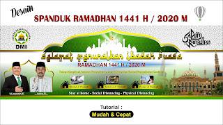 Desain Spanduk Ramadhan 1441 H - 2020 M dengan CorelDraw