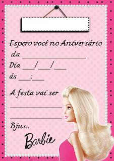 convite aniversario barbie kit festa barbie para imprimir
