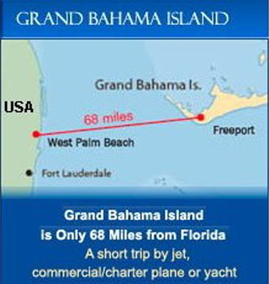 You could be in Grand Bahama 30 in minutes!
