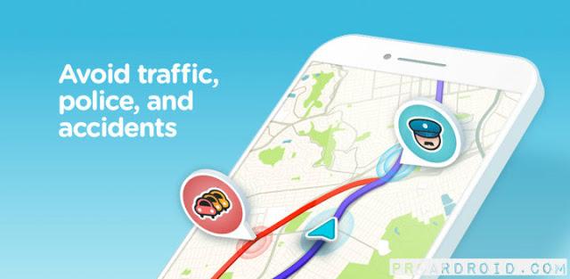 تطبيق الخرائط والتنقل Waze – GPS, Maps & Traffic v4.58.0.1 كامل للأندرويد logo