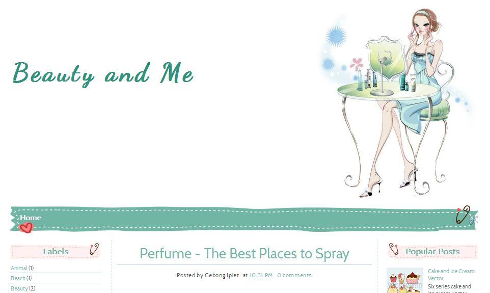 Beauty and Me Ipietoon-Cute Blog Design - free cute blogger templates