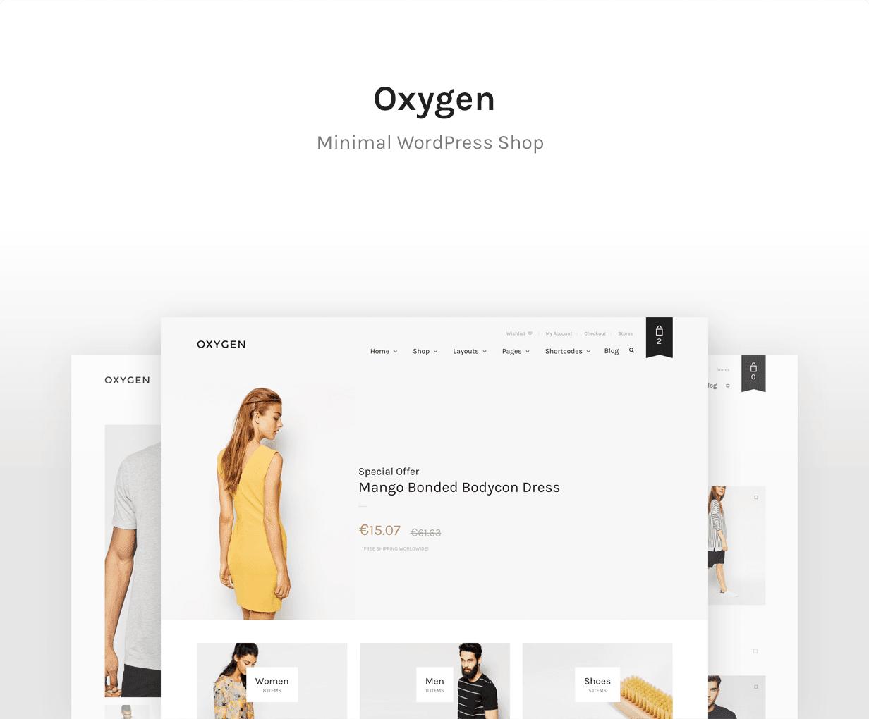 oxygen online WordPress shopping theme