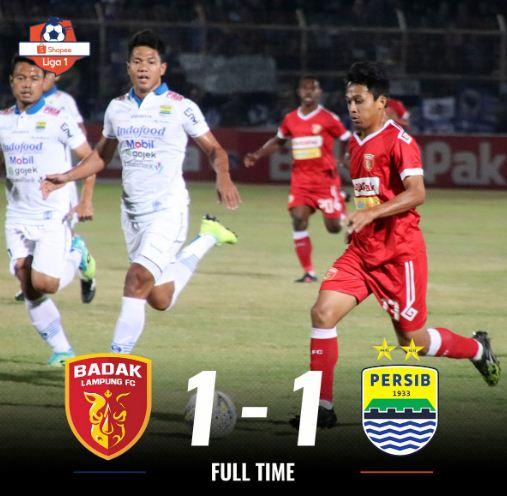 Perseru Badak Lampung vs Persib Bandung 1-1 Highlights