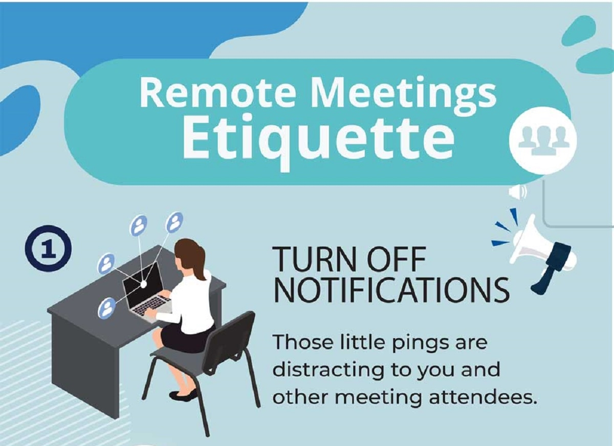 Zoom Virtual Meeting Etiquette #infographic