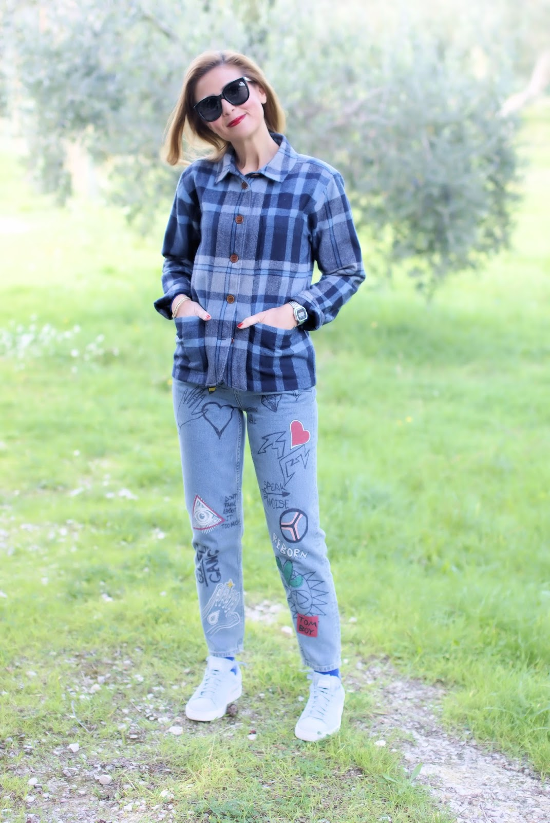 How to wear a checked shirt jacket? The Woolster from Gant on Fashion and Cookies fashion blog, fashion blogger style