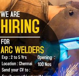 Leading MNC Manufacturing Industry in Oragadam Recruitment For ARC Welders | ITI, Diploma BE Holders Can Apply