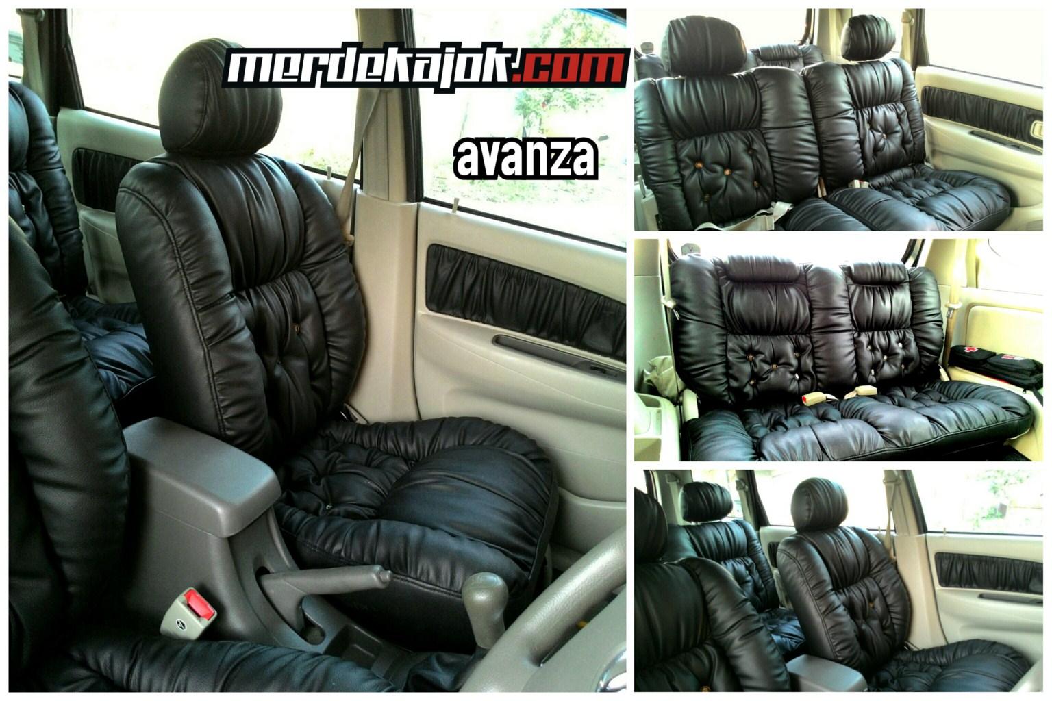 Cover Jok Grand New Avanza All Kijang Innova G Mt Model Kerut Black Mobil Malang Merdekajok