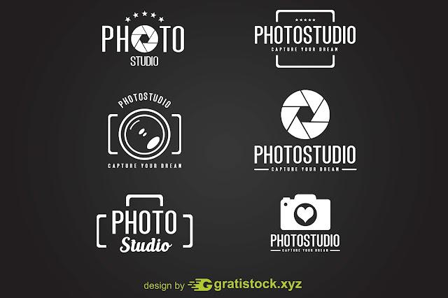 Free Download PSD Mockup - Logos of Photo Studio