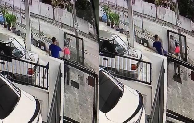 (Video) 'Dia tendang badan & tumbuk muka saya' - Rider FoodPanda diserang pelanggan biadab