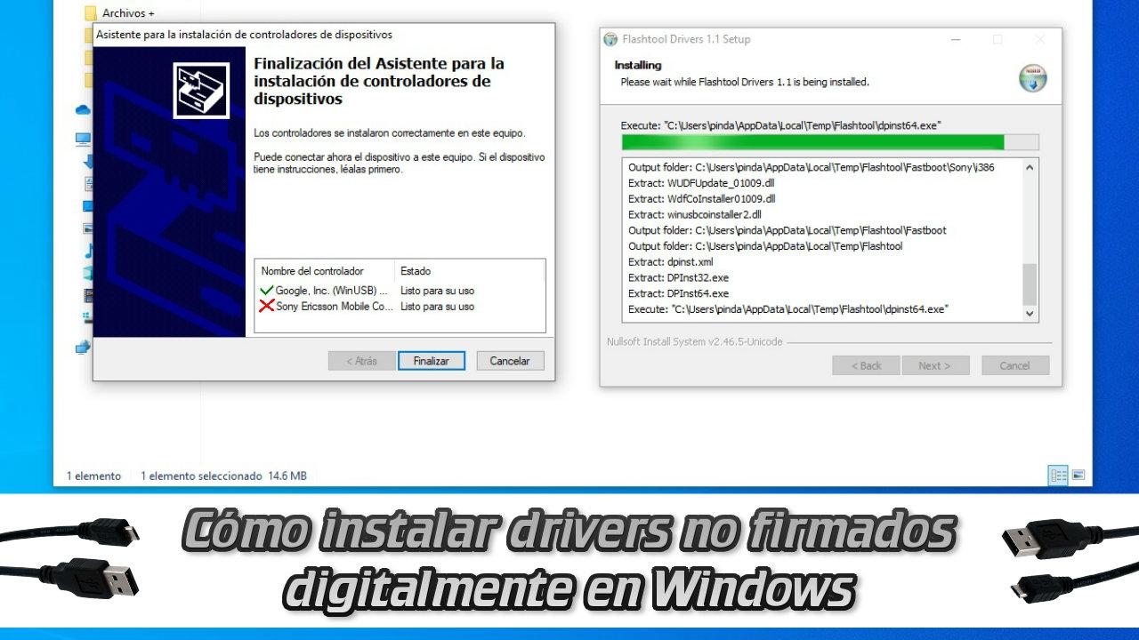 Cómo instalar drivers no firmados digitalmente en Windows