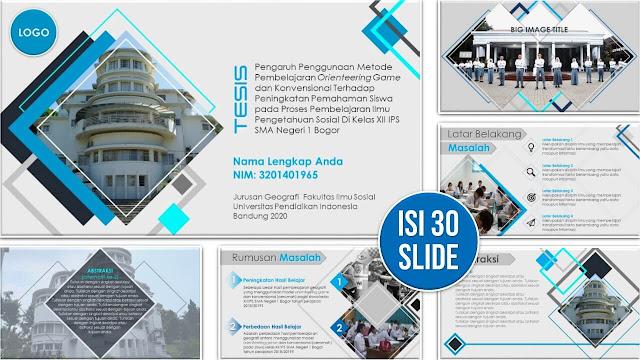 Contoh Slide PowerPoint Sidang Tesis