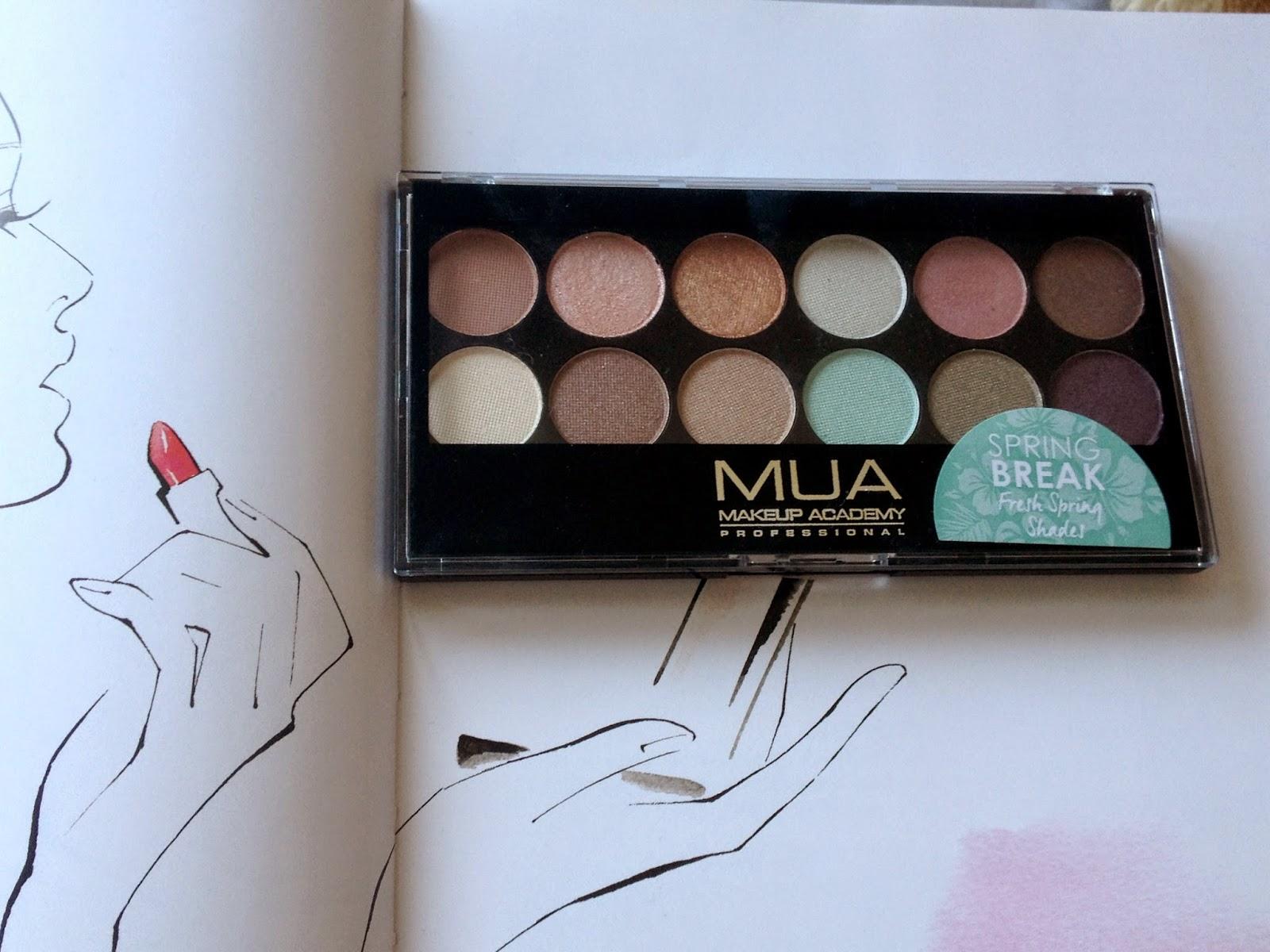 MUA Spring Break Eyeshadow Palette