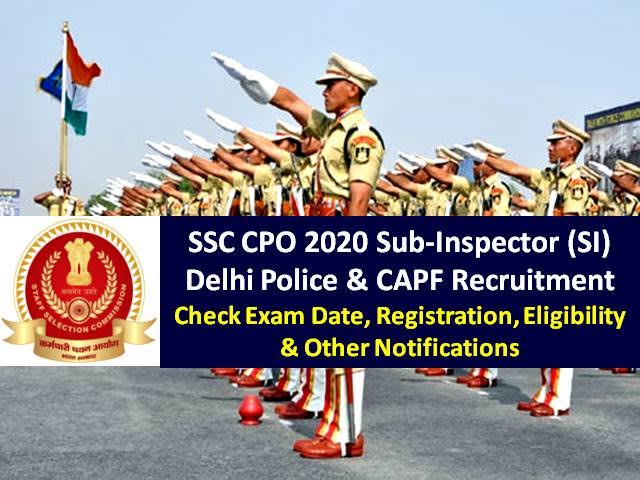 Admit Card SSC Recruitment 2020 for Sub Inspector and Assistant Sub Inspector Posts