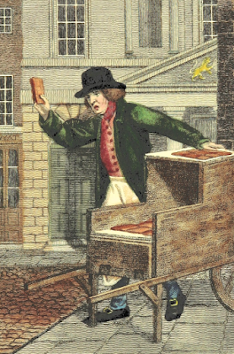 Hot spiced gingerbread from Modern London by R Phillips (1804)