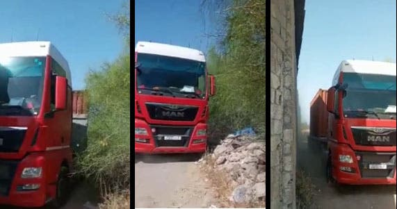 مطالب برفع ضرر نبات شوكي يعرقل الطريق بالحي الصناعي حربيل + ڨيديو