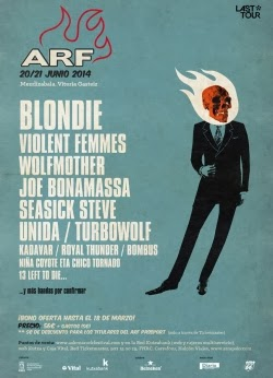 Blondie, Wolfmother, Bonamassa, Seasick Steve y Violent Femmes al Azkena Rock Festival 2014