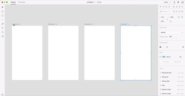 Adobe XD CC captura 001 -