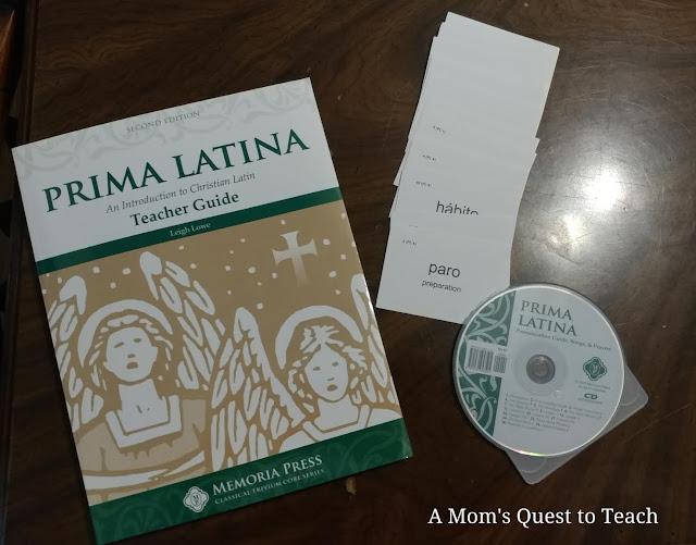 Prima Latina Teacher Guide book; vocabulary cards; CD