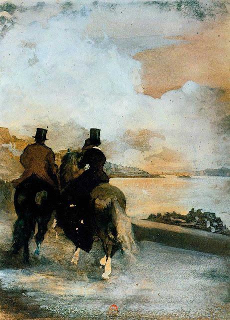 Эдгар Дега - Два всадника на озере (ок.1860)