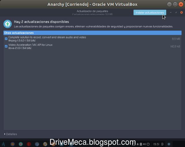 La aplicacion verifica si hay o no actualizaciones de paquetes