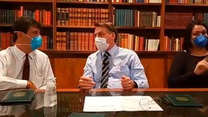 Bolsonaro testa negativo para o novo coronavírus