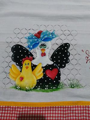 semaninha de galinha -mamae galinha  com filhotinho