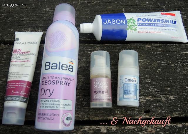 Paula's Choice, Balea, Organic Surge, Jason, Balea