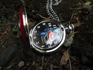 Jam Saku Antik Captain America Star Shield P497 With Necklace Chain